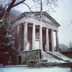 Photo taken at Syracuse University Quad by John H. on 2/4/2013