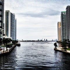 Photo taken at Brickell Ave Bridge by Juca on 7/27/2013