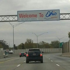 Photo taken at Michigan / Ohio State Line by Liz A. on 10/27/2012