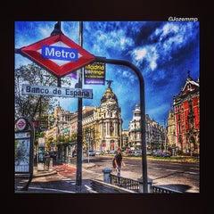 Photo taken at Metro Banco de España by Joze M. on 4/19/2014