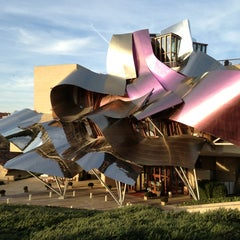 Photo taken at Hotel Marqués de Riscal by tracey d. on 12/22/2012
