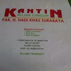 Photo taken at Kantin Rujak Cingur Pak Hadi by Dhydyan S. on 1/31/2013