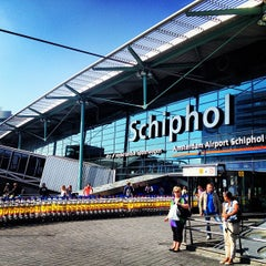 Photo taken at Amsterdam Airport Schiphol (AMS) by Uluk K. on 7/13/2013