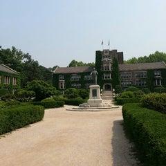 Photo taken at 연세대학교 (Yonsei University) by Sophia K. on 6/5/2013