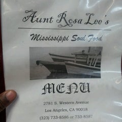 Photo taken at Aunt Rosa Lee's Mississippi Soul Food by Mikey R. on 2/15/2013
