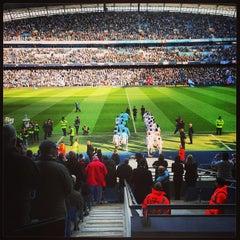 Photo taken at Etihad Stadium by Svend Anders K. on 2/17/2013