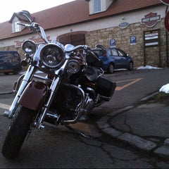 Photo taken at Harley Davidson Šalamounka Club by Alesha . on 3/2/2013