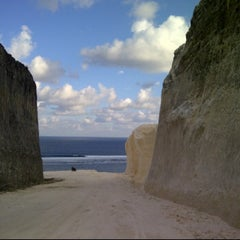 Photo taken at Pantai Pandawa (Pandawa Beach) by Chelly ✌. on 10/29/2012