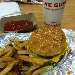 Photo taken at Five Guys by The R. on 3/15/2013