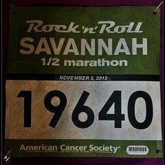 Photo taken at Rock n Roll Savannah Marathon Start by Robin T. on 11/3/2012
