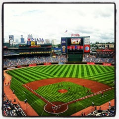 Photo taken at Turner Field by Jason E. on 7/14/2013