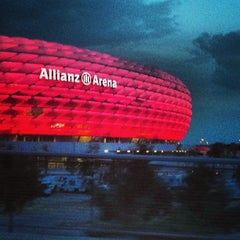 Photo taken at Allianz Arena by Felipe A. on 7/23/2013