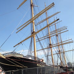 Photo taken at South Street Seaport by Mark A. on 10/4/2013