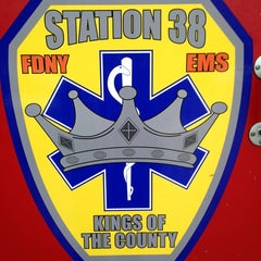 Photo taken at FDNY EMS Station 38 by Kerone K. on 8/8/2013