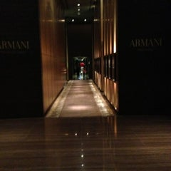 Photo taken at Armani Hotel by Kirill P. on 1/4/2013