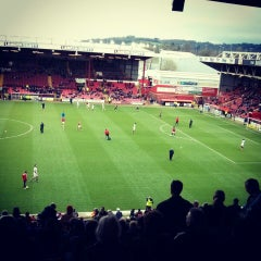Photo taken at Ashton Gate Stadium by Matthew P. on 4/5/2014