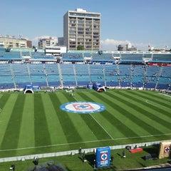 Photo taken at Estadio Azul by Carlos V. on 2/15/2013