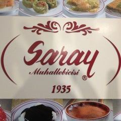 Photo taken at Saray Muhallebicisi by Aslı S. on 12/1/2012