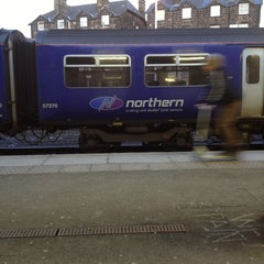 Photo taken at Harrogate Railway Station (HGT) by Trevor J. on 2/17/2013