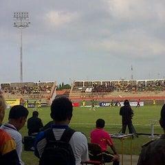 Photo taken at Stadion Kota Batik by Wahyu C. on 1/30/2013