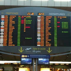 Photo taken at Aeroporto di Venezia Marco Polo (VCE) by Valerio B. on 10/23/2012