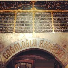 Photo taken at Cağaloğlu Hamamı by Adriano M. on 1/24/2013