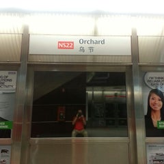 Photo taken at Orchard MRT Station (NS22) by Ron P. on 3/16/2013
