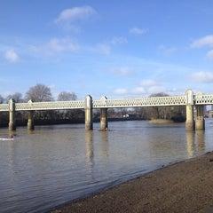 Photo taken at Kew Railway Bridge by Hannah S. on 2/2/2014