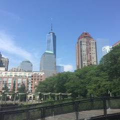 Photo taken at Battery Park City by Pia F. on 7/27/2015