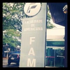 Photo taken at Faculdade de Americana (FAM) by Matheus P. on 10/2/2013