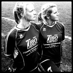 Photo taken at FC Moortsele by Lisa J. on 3/3/2013