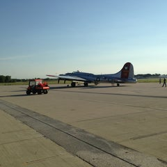 Photo taken at Waukesha County Airport (UES) by Gregg S. on 8/24/2013