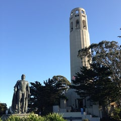 Photo taken at Coit Tower by Joshua G. on 3/5/2013