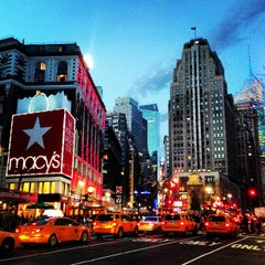 Photo taken at Herald Square by Fei J. on 3/10/2013