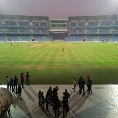Photo taken at Dr. DY Patil Stadium (डा. डी. वाय. पाटील स्टेडीयम) by Jini S. on 1/12/2013