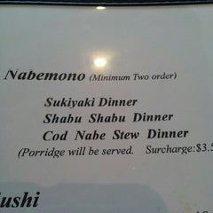 Photo taken at Ino Japanese Bistro by Haley F. on 5/3/2013