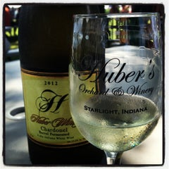 Photo taken at Huber's Orchard, Winery, & Vineyards by TMae on 9/2/2013