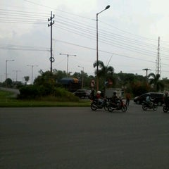 Photo taken at Gerbang Tol Manyar by Dessy G. on 12/15/2012