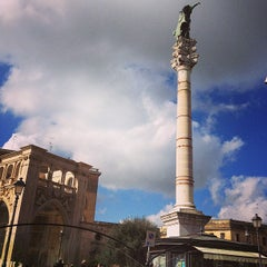 Photo taken at Piazza Sant'Oronzo by Luisa D. on 2/15/2013