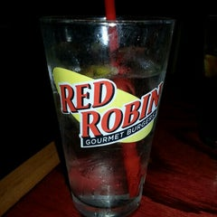 Photo taken at Red Robin Gourmet Burgers by Nicole S. on 9/29/2012