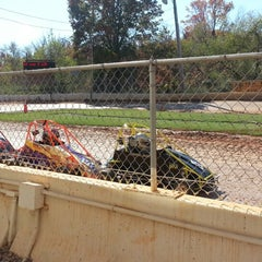 Photo taken at Airport Speedway by Vonnie G. on 10/21/2012