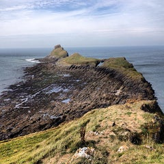 Photo taken at Worms Head by Shrimpress on 9/4/2013