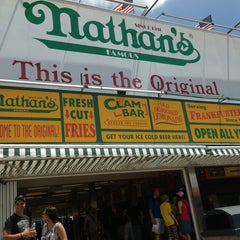 Photo taken at Nathan's Famous by Nelson Y. on 7/8/2013