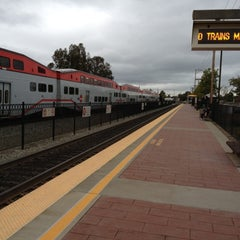 Photo taken at Hayward Park Caltrain Station by Tall Asian M. on 11/1/2012