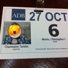 Photo taken at Asian Development Bank (ADB) by Charm T. on 10/27/2015