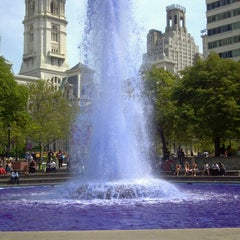 Photo taken at JFK Plaza / Love Park by Shannon S. on 5/10/2013