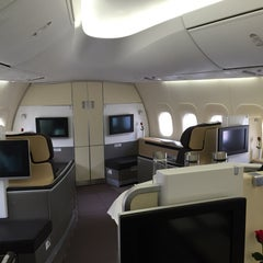 Photo taken at Lufthansa Flight LH 418 by sv H. on 12/8/2014