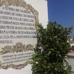Photo taken at Cais de Tavira by Francisco Á. on 4/17/2014