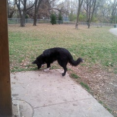 Photo taken at Howard Dog Park by mary kay S. on 10/22/2012