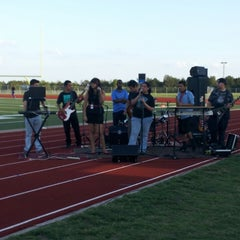 Photo taken at Wilmer Hutchins Football Stadium by Luis S. on 10/4/2013